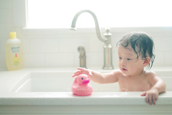 Lily's bath time