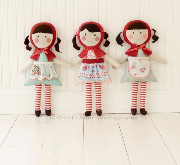 Handmade dolls.