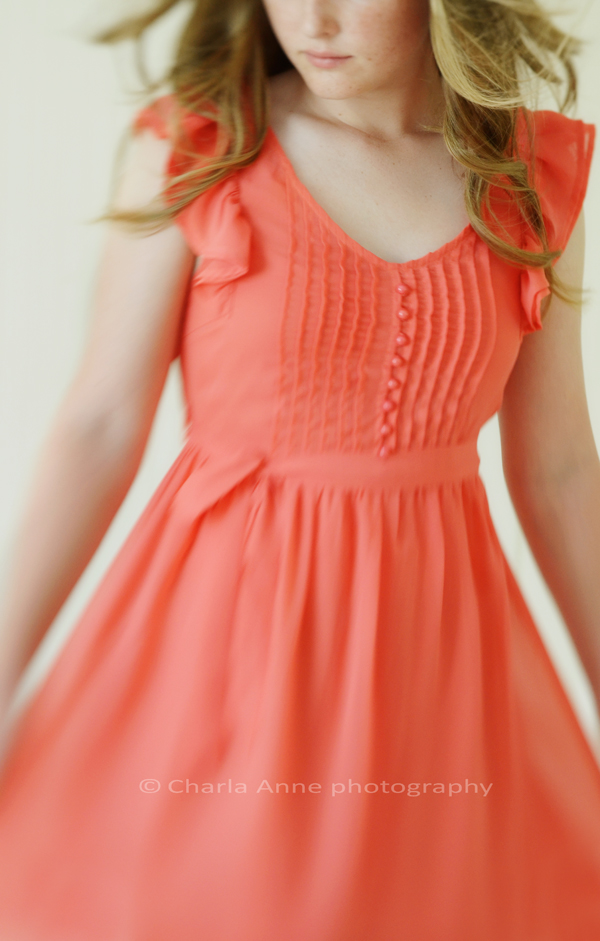 Dancing orange dress crop
